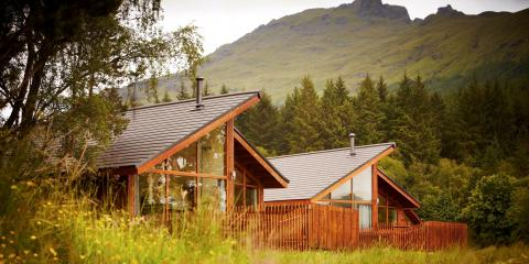 Stunning backdrop to the Forest Holidays Ardgarten Cabins in Argyll