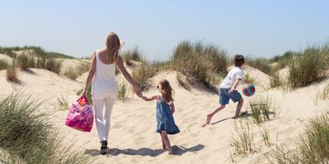 Family at the beach in Le Touquet, France