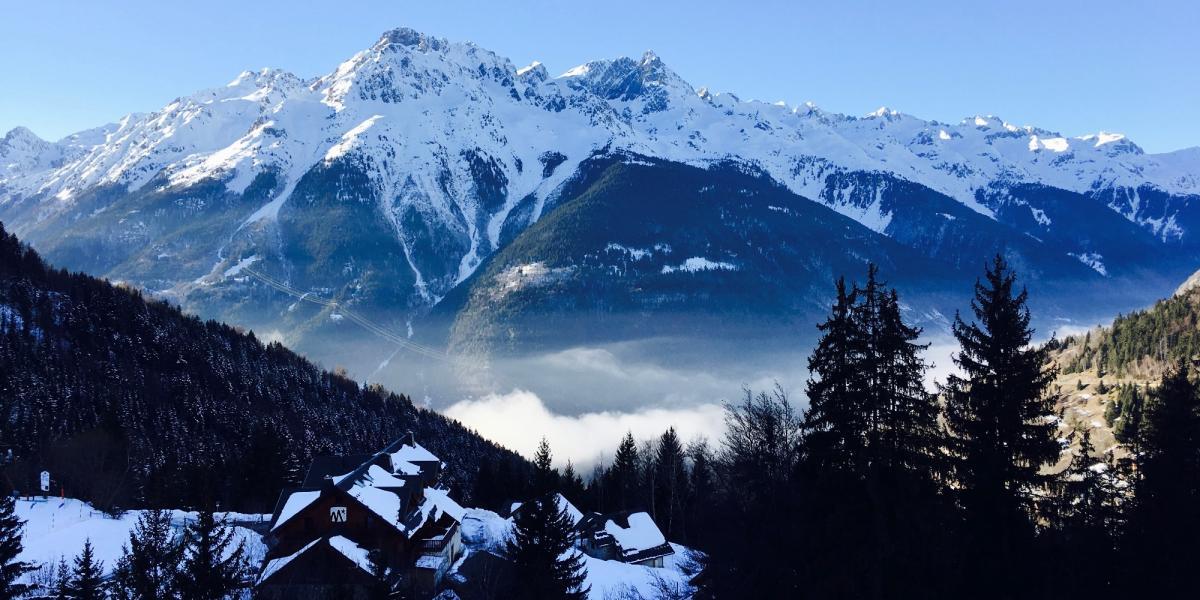 View from the Espace Vacances Les Cristaux, Oz-en-Oisans © Rhonda Carrier