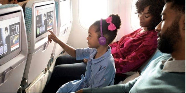 Kid on Emirates flight
