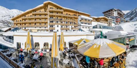 Enjoy a family holiday with doorstep skiing at the Edelweiss & Gurgl.