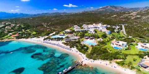 Romazzino is a luxurious resort offering hotel rooms and villas.