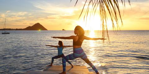 Unwind with some yoga at BodyHoliday in St. Lucia.