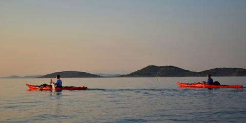Kayaking off the Elaphiti Islands.