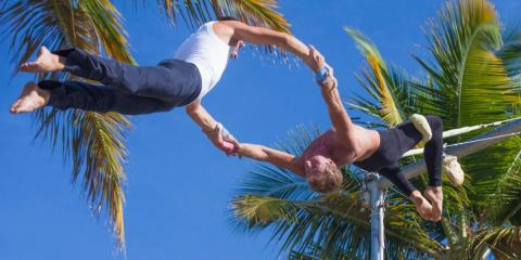 Flying Trapeze School at Club Med La Caravelle, Guadeloupe.