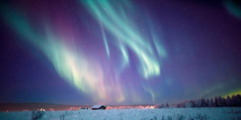 The Northern Lights over Jeris