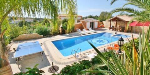 Pool view at the Villa Maximo.