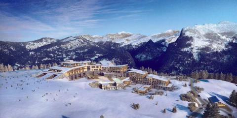 View of Club Med Grand Massif Samoëns Morillon.