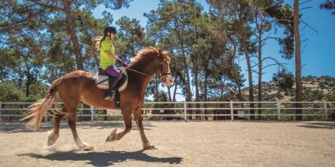 Horse riding at Aphrodite Hills.