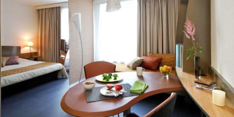 Apartment interior at Adagio Bordeaux.