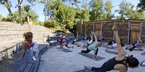 Try yoga at Pierre & Vacances Holiday Village Moliets.