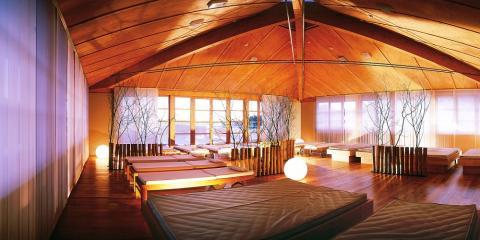 Super-stylish relaxation spa area at Hotel Cristallo.