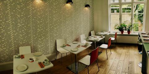 The breakfast room at B+B Belgravia.