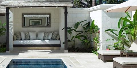 Relaxing spa area at Coral Reef Club, Barbados.