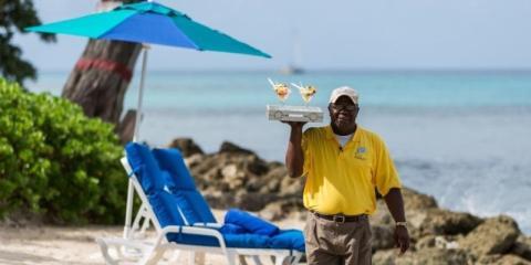 Beach service at Crystal Cove, Barbados.