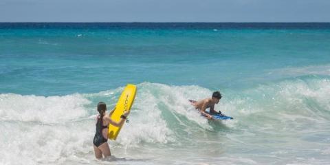 Fun in the sea at Turtle Beach Resort.