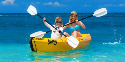 Kayaking at Beaches Ochos Rios in Jamaica.