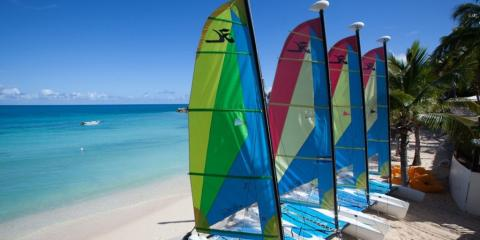 Water sports at Blue Waters, Antigua.