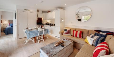 Family living space in a Baby Blue Chip Holidays property.