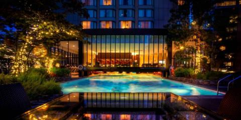 Outdoor pool at Four Seasons Hotel Vancouver.
