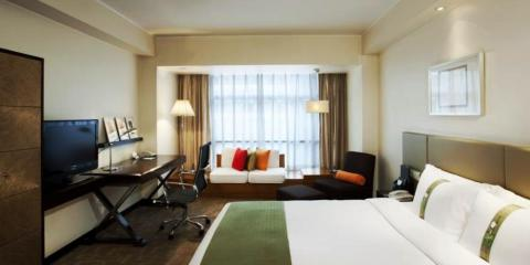 Double room at Beijing's Holiday Inn Central Plaza.