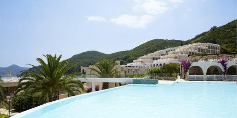 Pool view at the MarBella Corfu.