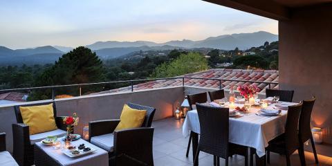 Apartment terrace at Alto di Pinarello.