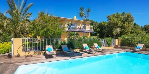 Gated pool at Villa Ruscana.