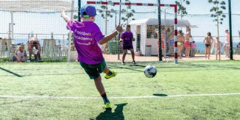 Football academy at Holiday Village Costa del Sol.