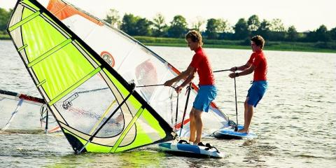 Watersports at De Eemhof Center Parcs Europe; ideal for a short break.