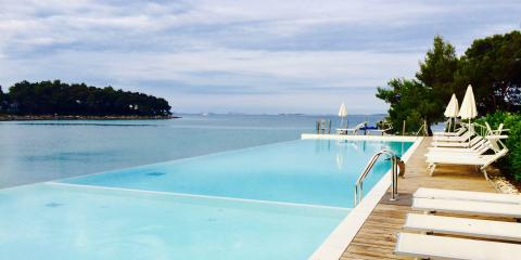 The infinity pool at Crvena Luka Hotel & Resort.