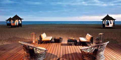 Melia Tortuga Beach Resort & Spa at night.