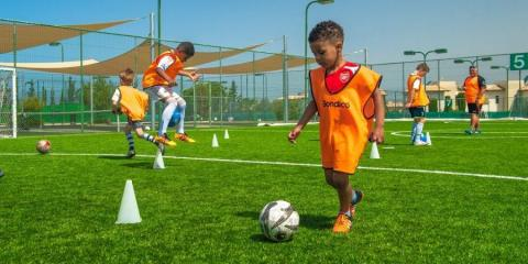 Football class at the Aphrodite Hills resort in Cyprus