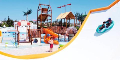 Waterpark fun at Electra Village, Nissi Beach.