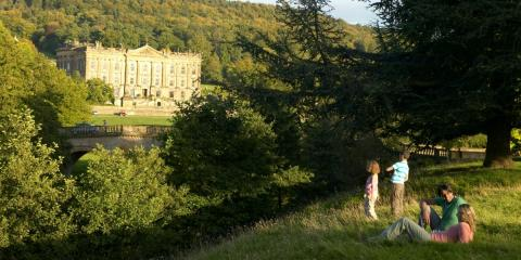 Family day out at Chatsworth House, Derbyshire