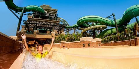 Water-park fun in Dubai.