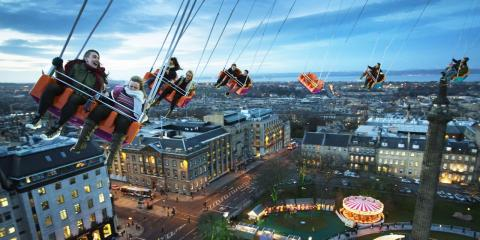 The Star Flyer in Edinburgh at Christmas.