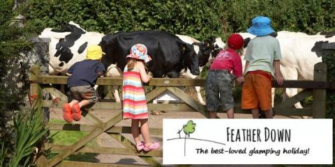 Feather Down offers family glamping breaks on working farms.
