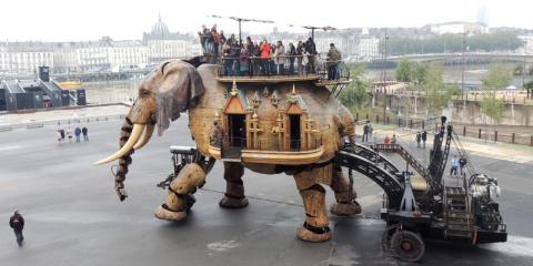 The walking elephant at the Machines de l'Ile.