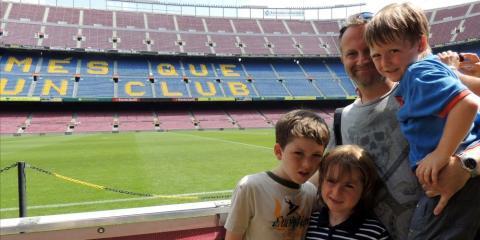 Rhonda's boys at Camp Nou.