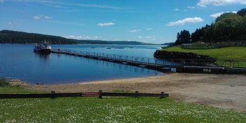 Kielder Water holiday park in Northumberland
