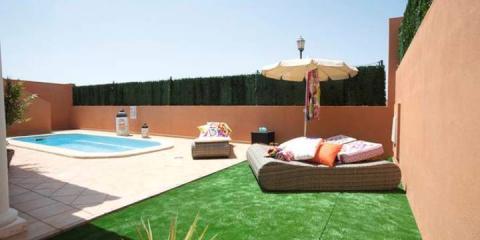 Private pool and terrace for each villa at Mirador de Lobos.