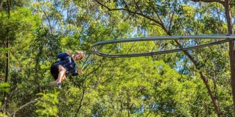 Rollercoaster zipline at Center Parcs Park Allgäu.