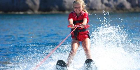 Waterskiing at Vounaki Beachclub.