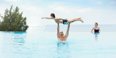 Family fun in the Ikos Oceania infinity pool.