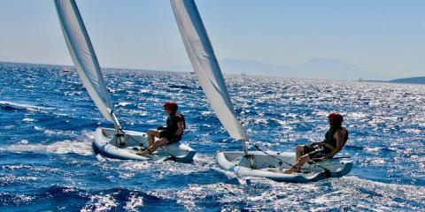 Sailing at the Sea Garden.