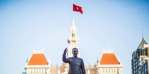 Statue of President Ho Chi Minh, Vietnam