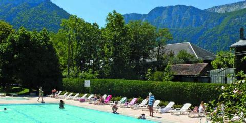 Camping la Ferme de la Serraz, Haute Savoie.