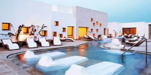 Outdoor spa area at Grand Palladium Palace Ibiza Resort & Spa.
