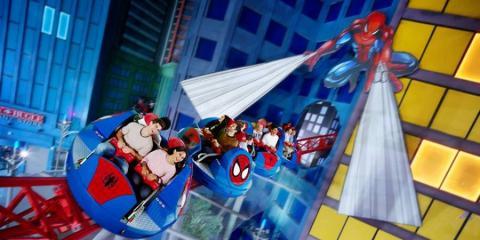 Thrills on board Spider-Man Doc Ock's Revenge.